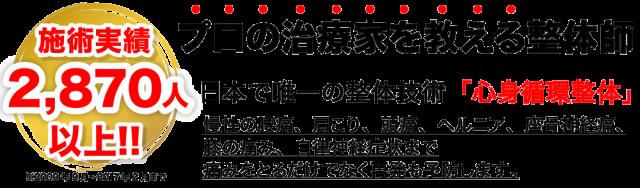 プロの治療家を教える整体師 日本で唯一の整体技術「心身循環整体」